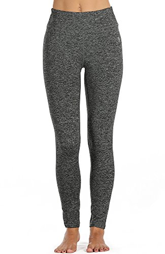 High Performance Charcoal (icyzone Damen Leggings Lang Sport Yoga Hose - Hohe Taille Training Tights Gym Pants Laufhose (L, Charcoal))