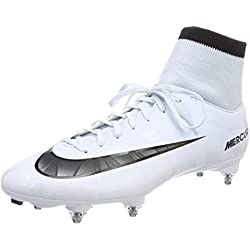 Nike Mercurial Victory VI CR7 DF SG, Chaussures de Football Homme, Blanc (Teinte Bleue/Blanc/Teinte Bleue/Noir), 40 EU
