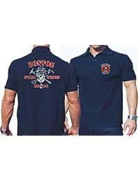 "'Polo Bleu marine, Boston Fire Department Rescue 2"""