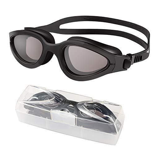 Aegend Schwimmbrille mit polarisierten Gläsern, Schwimmbrille Keine undichten Anti-Fog-UV-Schutz Triathlon-Schwimmbrille mit kostenloser Schutzhülle für Erwachsene Männer Frauen Jugend