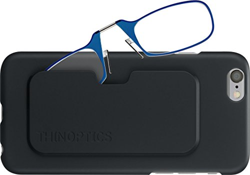 ThinOPTICS Stick Anywhere, Go Everywhere Reading Glasses plus Black iPhone 6/6S Case