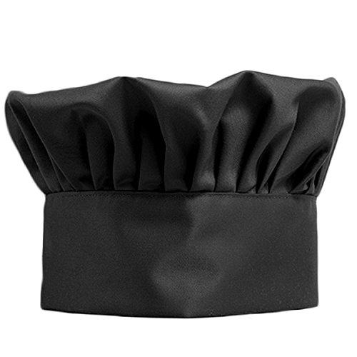 Regolabile elastico fungo Chef cappello cucina pasticceria tappo cucina forniture nero