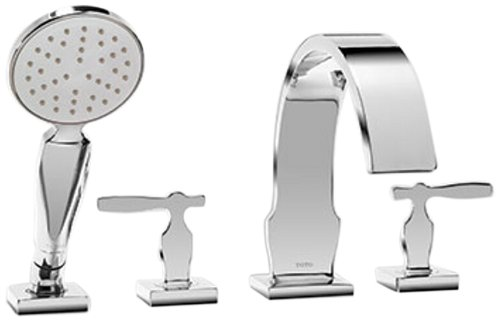 Tub Filler-handshower (Toto TB626S1#CP Aimes Deck-Mount Tub Filler Trim with Handshower, Polished Chrome by Toto)