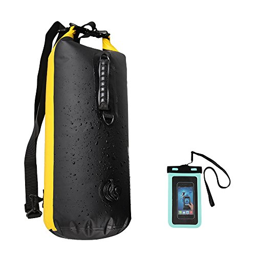 Waterproof Bag 35L, Koyoso Dry Bag IPX7 with Waterproof Smart Phone Case IPX8, Backpack Ideal for Kayaking, Boating, Canoeing, Fishing, Rafting, Swimming, Camping, Snowboarding