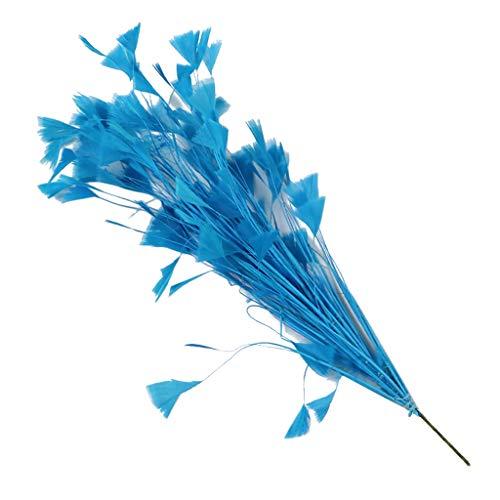 Hut Lila Kostüm - IPOTCH Bunter Dekoration Hahn Hahnfedern Feder Lila für Kostüme Hut Kleidung Deko - Blau