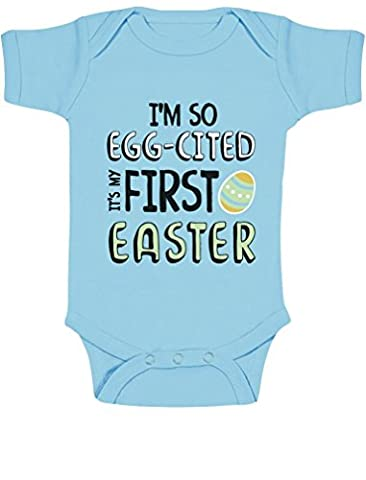 I'm So Egg-Cited It's My First Easter Babies Bodysuit Baby