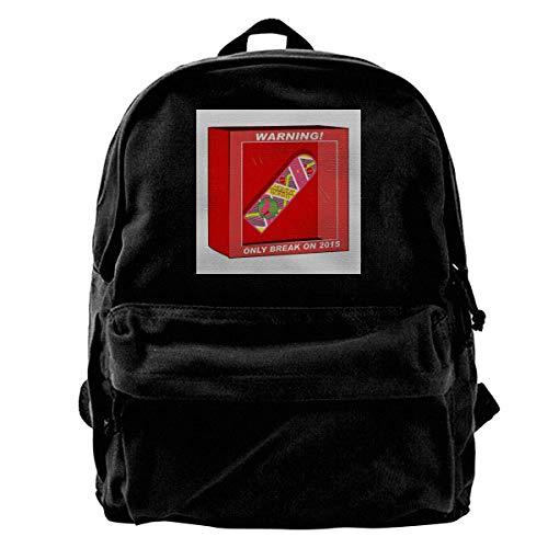 YANNAN Canvas Backpack Back to The Future Hoverboard Break in 2015 Rucksack Gym Hiking Laptop Shoulder Bag Daypack for Men Women