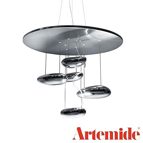 Artemide Mercury Mini Lampada a Sospensione Inox 1479010A LED R7s Cromo Lucido