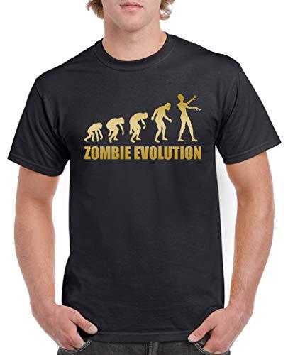 ie Evolution - Herren T-Shirt - Schwarz/Gold Gr. 4XL ()
