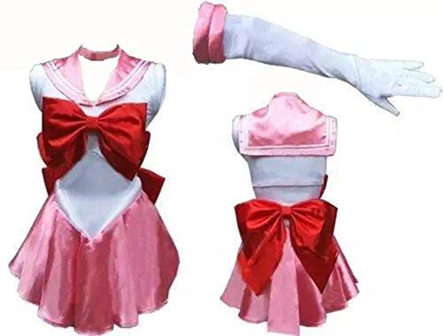 HIIH Uniformi Scolastiche Marinaio Giapponese Arco Stile Discoteca Biancheria Sexy Spettacolo (Rosa Piccolo Stock)