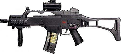 G8DS® Heckler & Koch G36 C - Fucile softair elettrico - sicura + 5000 munizioni Combat Zone BB blu + adesivo G8DS®