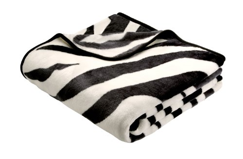 bhome-220-x-240-cm-biederlack-de-luxe-zebra-blanket-throw-multi-colour