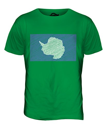 CandyMix Antarktika Kritzelte Flagge Herren T Shirt Grün