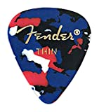 Fender 351 Classic Celluloid Picks 12-Pack (Confetti)Thin