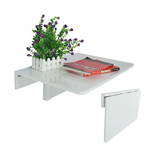Jin Qi,Contra la pared,mesa plegable, escritorio,de color blanco:mesas de computadora,60x40cm