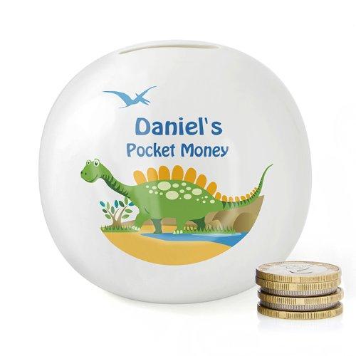 personalised-bone-china-dinosaur-money-box