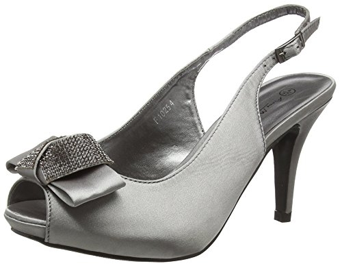 Spot on Damen F10254 Sandalen Grey (Pewter)