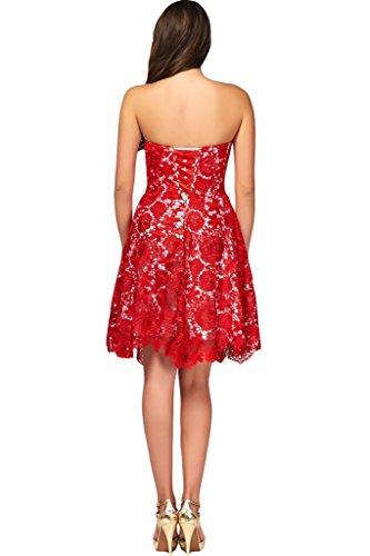 Missdressy Damen Neu Spitze Rot Abendkleider Partykleider Festkleider in verschiedene Stil C