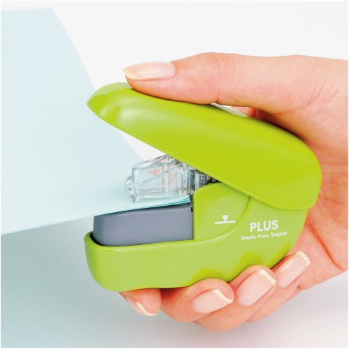 A needle-less stapler Paper clinch PK SL106N pinkx1 by Plus - 2