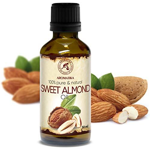 Mandel Öl 50ml - Prunus Amygdalus Dulcis - Italien - Almond Oil - 100% Rein & Natürlich - Basisöl - Raffiniert - Pflege Gesicht - Körper - Haare - Hände - Lippen - für Schönheit - Massage - Kosmetik