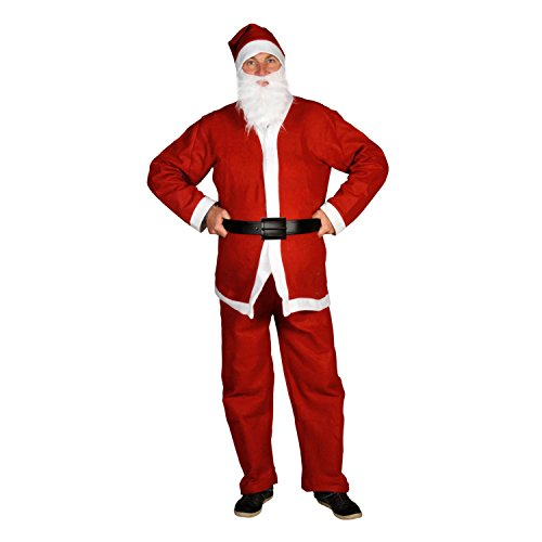 Weihnachtsmannkostüm komplett / Weihnachtsmann Kostüm 5 tlg. (Universalgröße)... (Weihnachtsmann Kostüm)