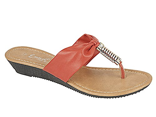 Foster Footwear - Retro aperto da ragazza' donna Red