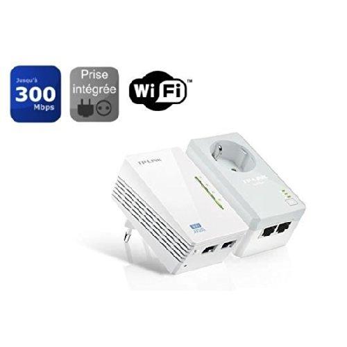 TP-Link TL-WPA4226KIT AV600 WiFi N300 Powerline Netzwerkadapter(300 Mbit/s, 4 Ports, Steckdose, Plug & Play, Kompatibel mit Adaptern anderer Marken, 2er Set) weiß