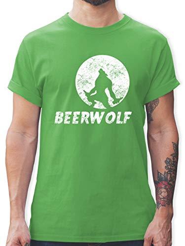 Statement Shirts - Beerwolf - M - Grün - L190 - Herren T-Shirt und Männer Tshirt