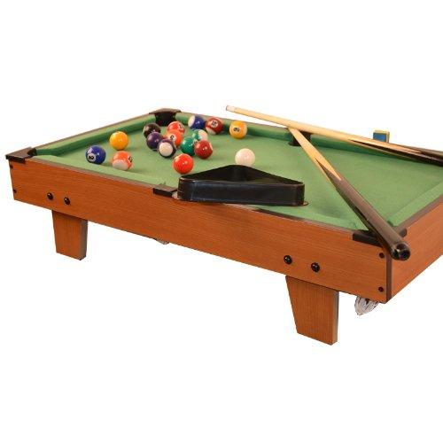 Table de billard mini en bois + équipement 69 x 37 x 17 cm