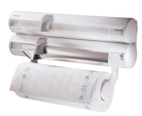 leifheit-rolly-mobil-wall-mounted-foil-cling-film-and-kitchen-roll-holder-dispenser-white