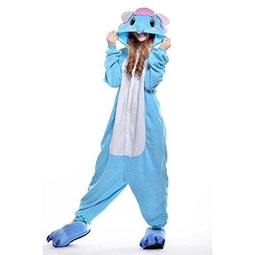 Imagen de pijamas mujer hombre disfraces anime cosplay ropa de dormir franela de una pieza, elefante l
