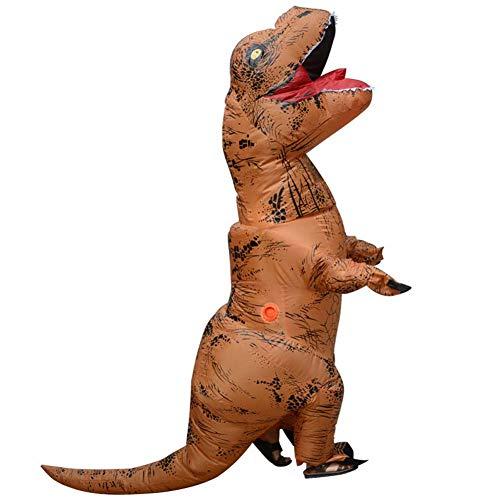Fernando Guapo 1 Stück Verschiedene Erwachsene/Kinder Aufblasbare Dinosaurier/Santa Claus Kostüm, Cosplay, Tyrannosaurus Rex T-Rex Kostüm, Party-Outfit, 8#, Child: ()