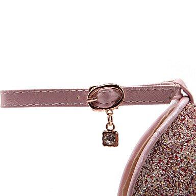LFNLYX Donna Sandali Primavera Estate Autunno altri PU Glitter Office & Carriera Party & serata informale Stiletto Heel Sequin fibbia Blu Bianco Rosa Blue