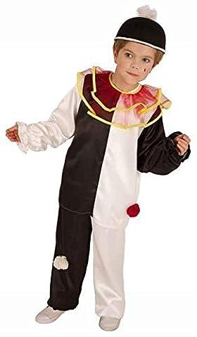 Kostüm für Kinder Pierrot Harlekin Clown 152