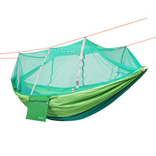Ren Chang Jia Shi Pin Firm Outdoor Camping Schaukeln Moskitonetz Fallschirm Tuch Hängematte (Color : Green, Size : 260*140 cm)