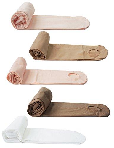 DANCEYOU 2101 Tanzstrumpfhosen mit Fußteil Ballett Strumpfhose Strümpfe für Kinder und Damen 1 Stück Rosa M