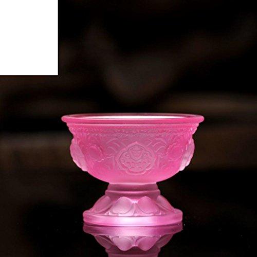 Qing Chen Buddhistischen-wie Glas Öllampe acht Auspicious für die Lichter Buddha Kerzenhalter Vor dem Buddha Kerzenhalter-C -
