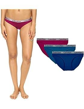 Braguitas estilo bikini para mujer, de Calvin Klein multicolor L