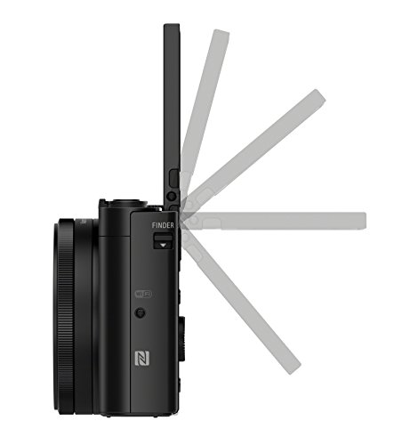 Sony DSC-HX90 Kompaktkamera (30x opt. Zoom, 60x Klarbild-Zoom, 7,5 cm (3 Zoll) Display, 5-Achsen Bildstabilisator, Full HD Video) schwarz
