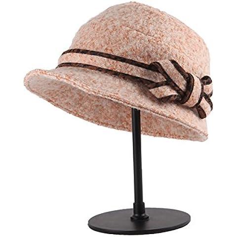 Otoño/Invierno moda prom graduación sombreros Sombrero de paño de lana de alta calidad calidad Hat sombrero para el sol,Camel