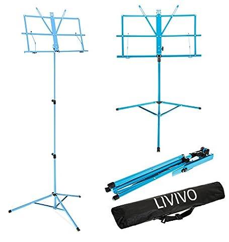 Livivo® pliable support de partition de musique avec sac de