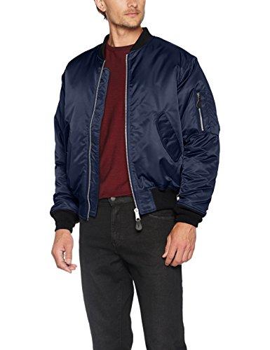 Brandit Herren Jacke MA1 Jacket, Blau (Navy 8), Large (Herstellergröße: L)
