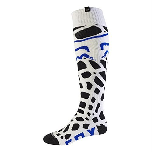 Fox 2017 Herren Motocross / MTB Socken - GRAV COOLMAX THIN - weiß: Größe Socken: M