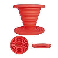 Kuissential Slick Drip Collapsible Silicone Coffee Dripper, Filter Cone