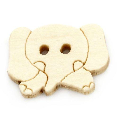 10Stück Elefant Holzknöpfe mit 2Löchern, zum Nähen, Scrapbooking, Verzierungen, Handwerk, Schmuckherstellung, Shabby Chic, stricken, 18mm * 12mm * 3,5mm -