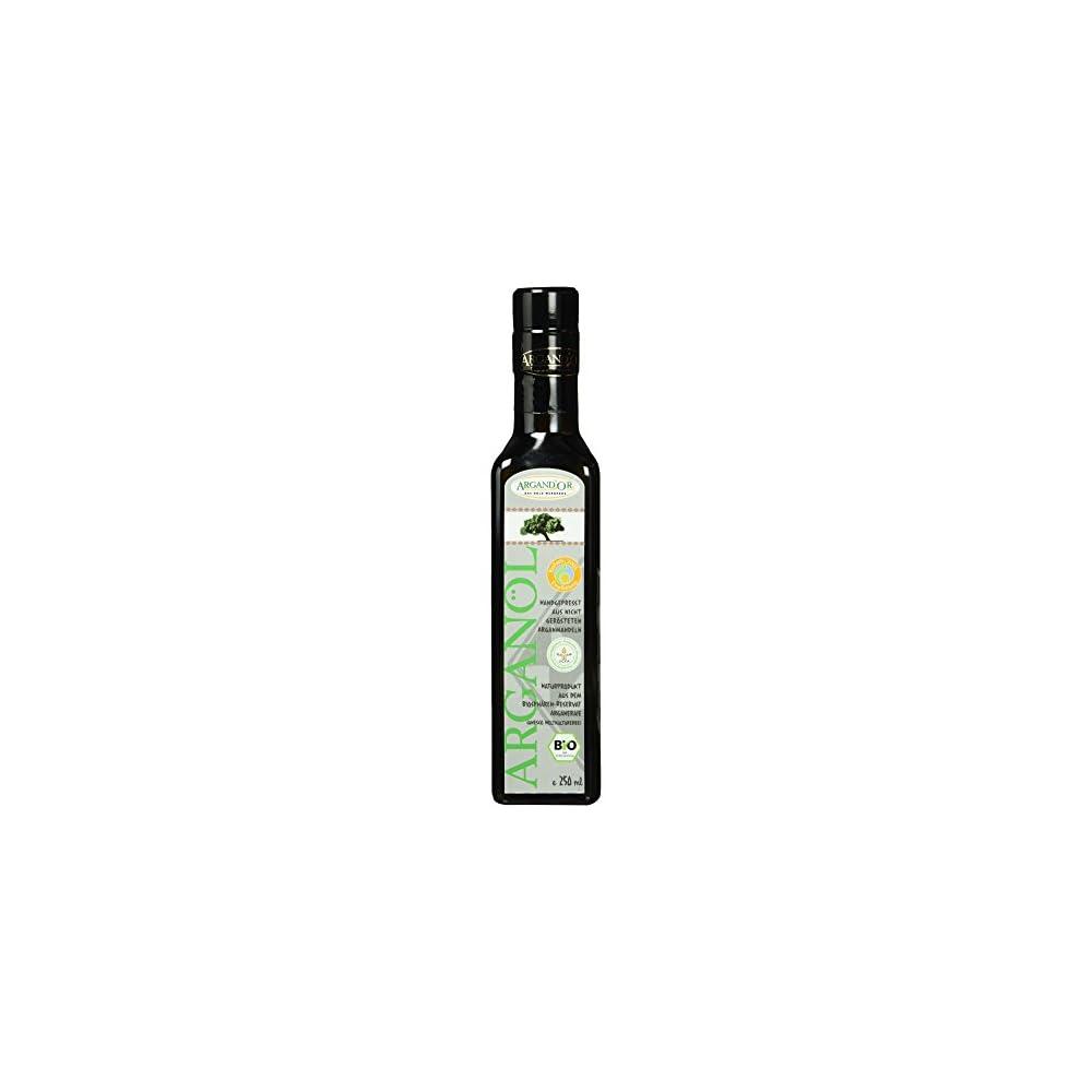 Argandor Reines Bio Arganl Handgepresst Aus Nicht Gersteten Argannusskernen Besonders Milder Geschmack 250 Ml 1er Pack 1 X 250 Ml