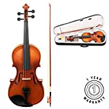 Stretton Payne Violin Outfit Full Size 4/4 Acoustic Student Violin with Case, Bow