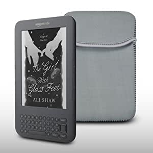 AMAZON KINDLE GREY NEOPRENE CARRY POUCH CASE BY CELLAPOD CASES