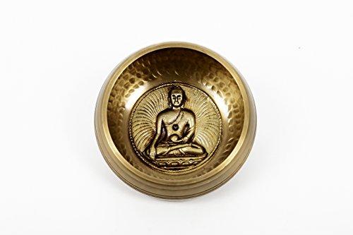 Tibétain, main, martelé, méditation, chant, bol, bouddha, artisanat, assorti, cas, (ham-bud-small) (B39)