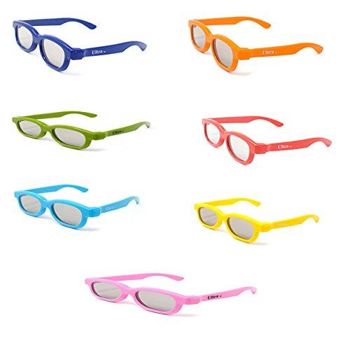 Regenbogen gemischte Packung mit 7 paar 3D Brille für Kinder-Kinder-Polorized für RealD Kino und TV-Nutzung